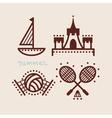 summer beach icon collection vector image