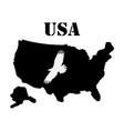 symbol of america and maps vector image vector image