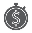time is money glyph icon finance and banking vector image vector image