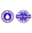 tonic water grunge stamp seals vector image vector image