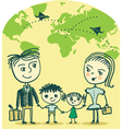 travelling family vector image vector image