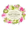Tropical flowers wreath vector image vector image