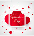valentines day greeting card template two big vector image vector image