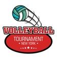 volleyball sport ball emblem