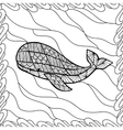 whale style entangle vector image