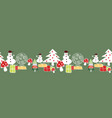 whitered and yellow christmas tree snowman vector image vector image