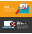 internet security system banner email laptop vector image
