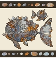 Abstract Cartoon Sea Fish vector image