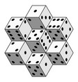 abstract dice composition vector image