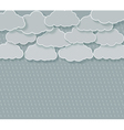 abstract rainy sky vector image vector image