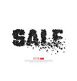 abstract sale sign with explosion effect vector image vector image