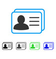 account cards flat icon vector image vector image