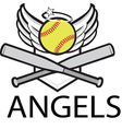 angels baseball logo vector image vector image