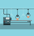 automated industrial production line vector image vector image
