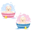 Bathing babies vector image