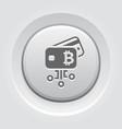 bitcoin debit card button icon vector image vector image