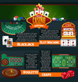casino games infographic vector image