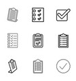 checkbox icons vector image vector image