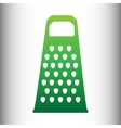 Cheese grater icon vector image vector image