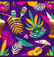 colorful seamless pattern for carnival with vector image