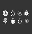 compass icon set grey vector image