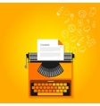 content marketing copywriting typewriter vector image vector image