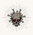 coronavirus logotype the image vector image