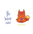 cute baby fox in lotus meditation yoga poses vector image