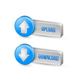Download and upload buttons vector image vector image