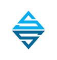 emerald ss initials lettermark symbol logo design vector image vector image