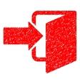 Exit Door Grainy Texture Icon vector image vector image