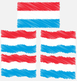 Flat and Waving Hand Draw Sketch Flag of vector image vector image
