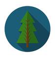Flat design modern of pine tree icon with long vector image vector image