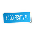 food festival square sticker on white