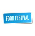 food festival square sticker on white