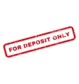 For Deposit Only Text Rubber Stamp vector image vector image