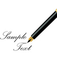 Fountain pen writing vector image vector image