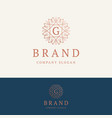 g brand logo vector image vector image