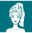 Girl with a towel on head vector image