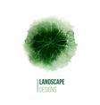 hand drawn landscape design logo vector image vector image