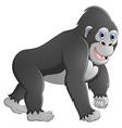 Happy gorilla cartoon vector image vector image