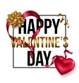 Happy Valentines Day card design with heart and vector image