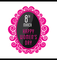 happy womens day greeting design vector image