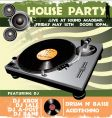 house party flyer vector image vector image
