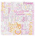 Hybrid Car Technology text background wordcloud vector image vector image