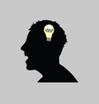 idea in man head vector image