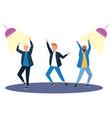 isolated men dancing design vector image