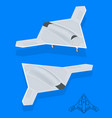 isometric long range strike-bomber aircraft vector image vector image
