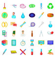 lab icons set cartoon style vector image vector image