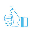 like hand symbol vector image vector image